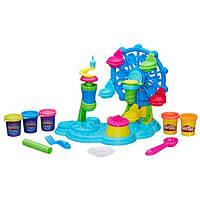 Детский Игровой Набор Для Девочек Карнавал сладостей 5 разных пластилина и колесо обозрения Плей До Play Doh