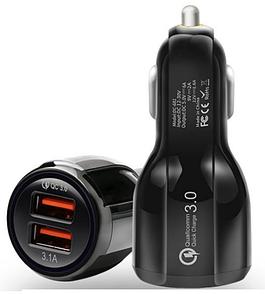 Авто ЗУ Adaptive Fast Charging 2-USB 3,1A (black)