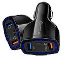 Авто ЗУ Qualcomm 2-USB and Type-C Quick Charge 3.0 (black), фото 3