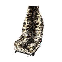 Чехлы авто сидений универсальные искусственный мех Коричневый Тигр полный комплект