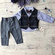 Нарядный костюм  на мальчика 559. Размер 68 см