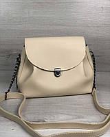 Женская молодежная сумка Welassie Софи Бежевая (65-56309)