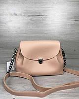 Женская молодежная сумка Welassie Софи Пудровая (65-56310)