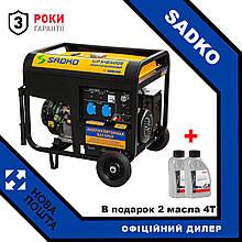 Генератор SADKO GPS-8500E ATS + масло 4T - 2шт.