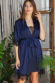 Женский домашний шелковый халат Размеры S M L XL
