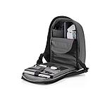"""Рюкзак міський із сонячною панеллю протикрадій XD Design Bobby Tech 15,6"""" чорний P705.251, фото 6"""