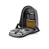 """Рюкзак міський із сонячною панеллю протикрадій XD Design Bobby Tech 15,6"""" чорний P705.251, фото 7"""