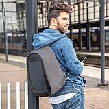 """Рюкзак міський із сонячною панеллю протикрадій XD Design Bobby Tech 15,6"""" чорний P705.251, фото 9"""