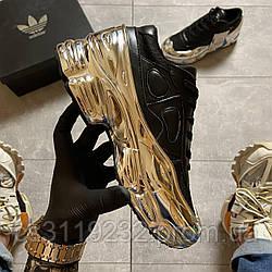 Женские кроссовки Adidas Raf Simons Core Black Silver Metallic (черный)