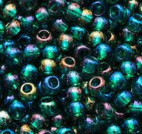 Бисер чешский Preciosa 51710, Круглый, Цвет:Прозрачный, радужный, изумрудный. 10/0 50 грамм/уп