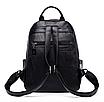 Рюкзак женский кожаный Backpack Hefan Daishu, фото 4
