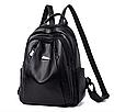 Рюкзак женский кожаный Backpack Hefan Daishu, фото 2