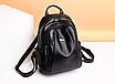 Рюкзак женский кожаный Backpack Hefan Daishu, фото 3