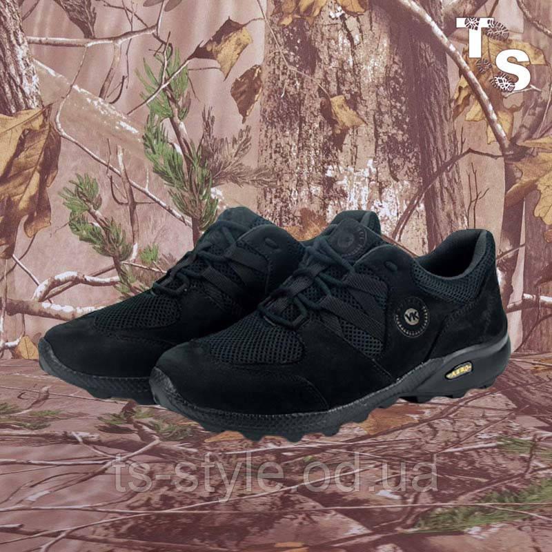 Кросівки Мустанг чорні нубук 3D-сітка Airmesh