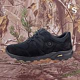 Кросівки Мустанг чорні нубук 3D-сітка Airmesh, фото 2
