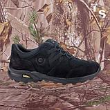 Кросівки Мустанг чорні нубук 3D-сітка Airmesh, фото 4