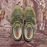 Кросівки Мустанг олива нубук 3D-сітка Airmesh, фото 5
