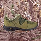 Кросівки Мустанг олива нубук 3D-сітка Airmesh, фото 2