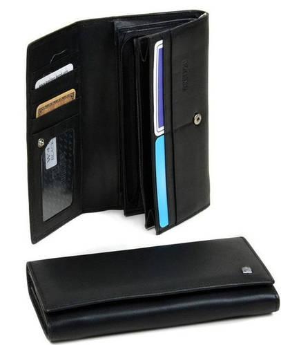 Практичный женский кошелек NAP с натуральной кожи Bretton W47 black (черный)
