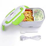 Термо ланч-бокс Electric Lunch Box YY-3168 с подогревом Салатовый, фото 2