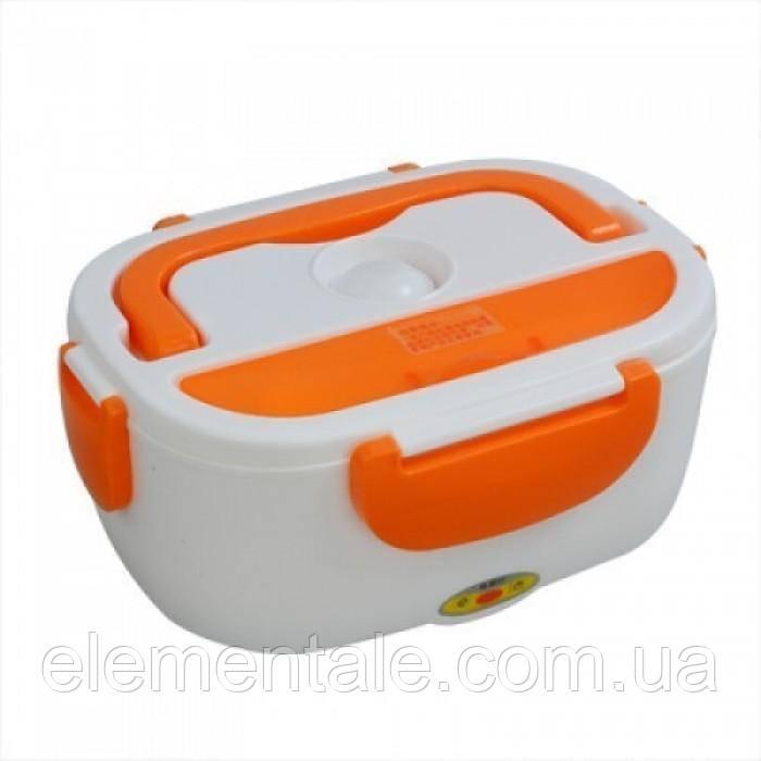 Электрический термо ланч-бокс Electric Lunch Box YY-3168 с подогревом Оранжевый