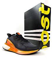 Мужские кроссовки Adidas AlphaBoost Black Orange(черные)