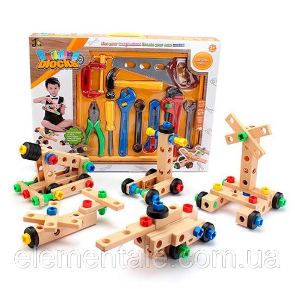 Детский набор инструментов Building blocks 38.5 х 28.5 х 6 см Деревянный