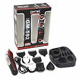 Машинка для стрижки Gemei GM 592 10 в 1 Черный с красным, фото 3