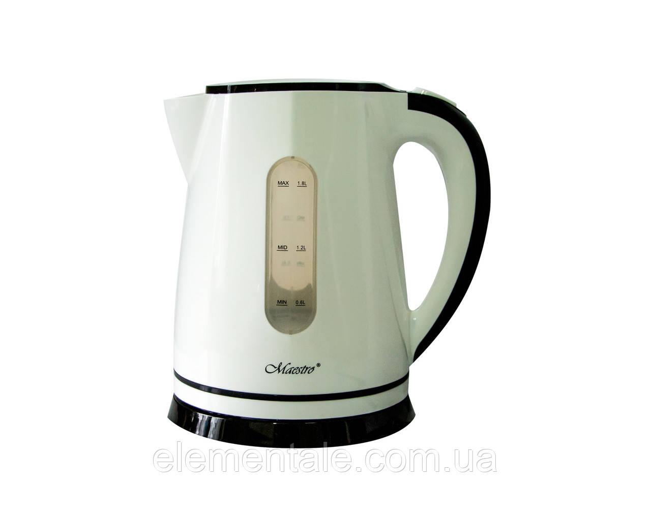 Электрический чайник Maestro Белый с черным