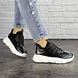 Жіночі кросівки Fashion Vince 1679 36 розмір 22 см Чорний, фото 5