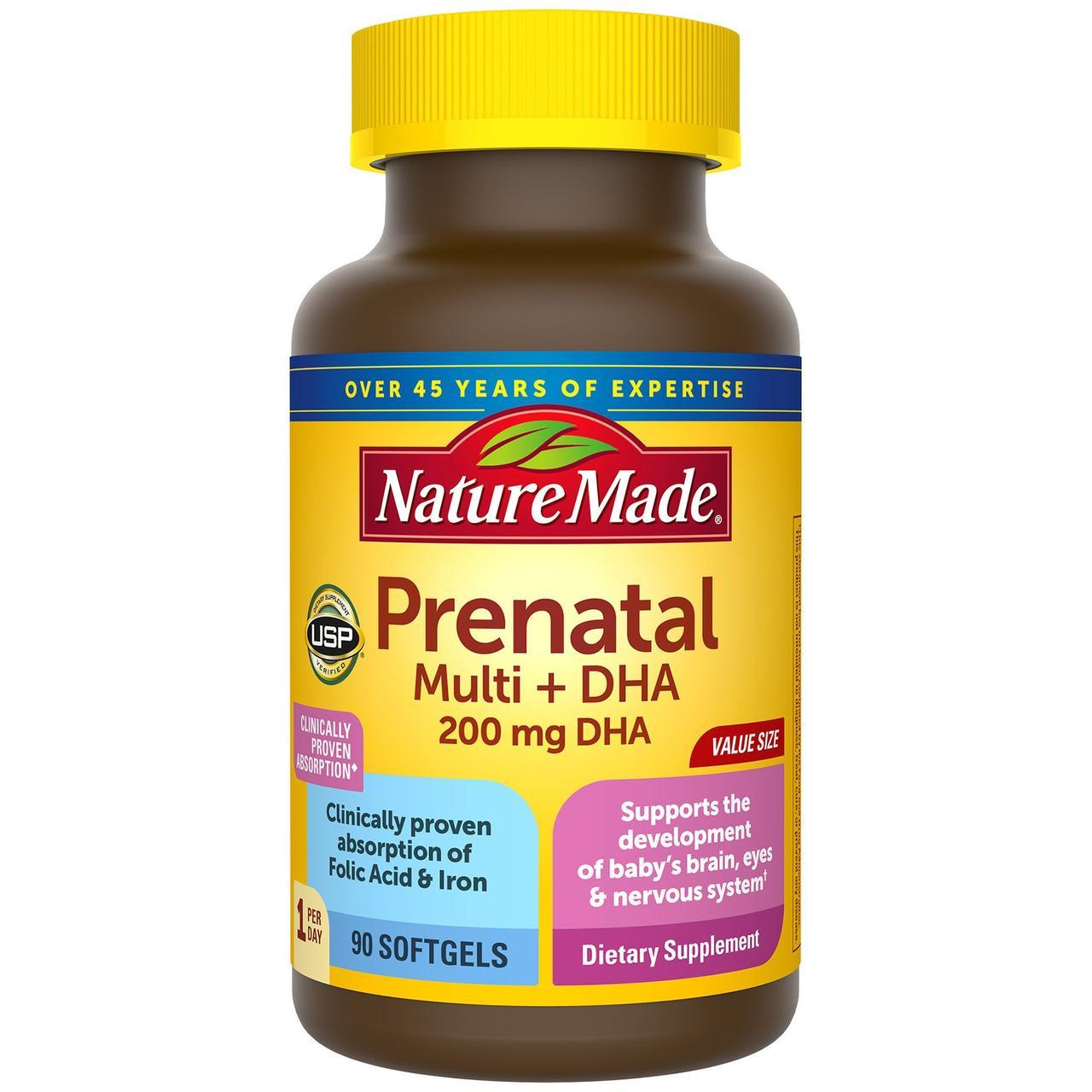 Nature Made Prenatal Multivitamin Plus 200 mg DHA 90 ЖК