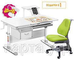 Парта трансформер и ергономическое кресло, (подставка для книг и настольная лампа) разные цвета