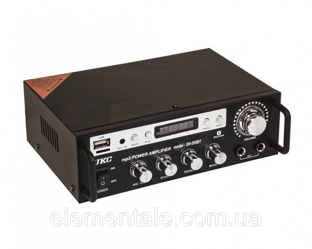 Усилитель звука Bluetooth радио UKC SN 555 BT Black