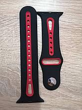 Ремешок Apple Watch Sport 42/44mm Black-Red