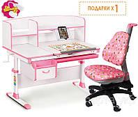 Детский стол Evo-50 и детское кресло, подставка для книг, настольная лампа (разные цвета), фото 1