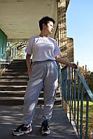 Женские штаны начесом и светлыми манжетами