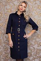 Модное женское платье-халат с поясом | Весна 2016, фото 1