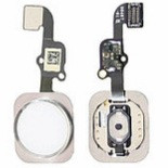 Шлейф для iPhone 6 Plus + кнопка Home (срібло)