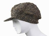 Натуральная шапка кепка вязанная