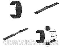 Ремешок BeWatch 22 мм стальной Quadro для Amazfit Pace/Stratos 3/GTR 47 mm Черный