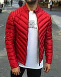 Куртка мужская весна-осень демисезонная без капюшона зеленая Турция. Живое фото. Чоловіча куртка осінь-весна, фото 3