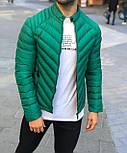 Куртка мужская весна-осень демисезонная без капюшона красная Турция. Живое фото. Чоловіча куртка осінь-весна, фото 3