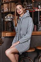 Платье 12-1671- серый: S-M,  L-XL, фото 1