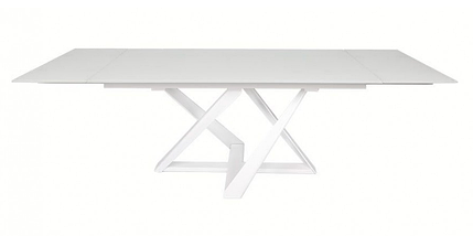 Стол раздвижной Fleetwood New 160/240 см стекло белый  ТМ Nicolas, фото 3