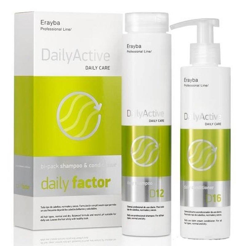 Набір шампунь 250 мл + кондиціонер 250 мл для щоденного догляду для всіх типів волосся Erayba D12/D16 Daily