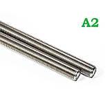 Шпилька М8 DIN 975 нержавіюча сталь А2, фото 3
