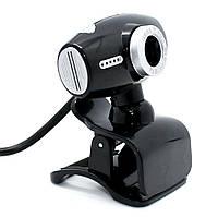 Проводная компьютерная веб-камера со встроенным микрофоном DL519 USB Webcam на прищепке для учебы и скайпа