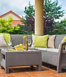 Стіл садовий Allibert by Keter Corfu Coffee Table Cappuccino ( капучіно ), фото 10