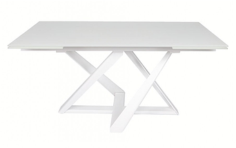 Стол раздвижной Fleetwood New 160/240 см стекло белый  ТМ Nicolas, фото 2