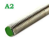 Шпилька М22 DIN 975 нержавіюча сталь А2, фото 2